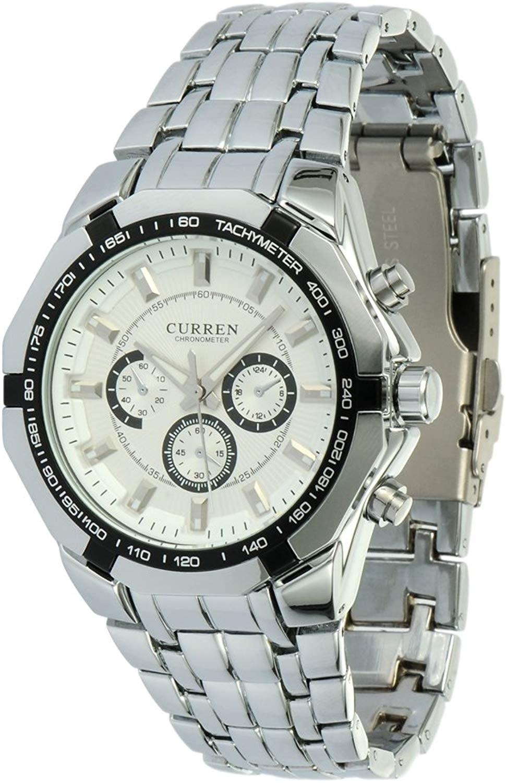 Curren Montre Tuff Guy Silver White Analog Watch - Readeel