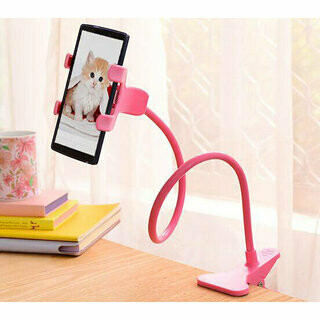 Long Bras Cell Phone Holder ROSE Universal Plastic Cell Phone Clip Holder, Lazy Bracket Flexible Long Arm
