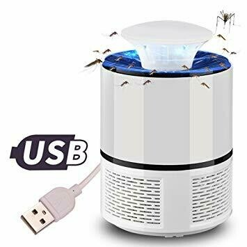 LED Mosquito Killer Lamp USB Powered Bug Zapper ANTI MOUNTIQUE - BLANC