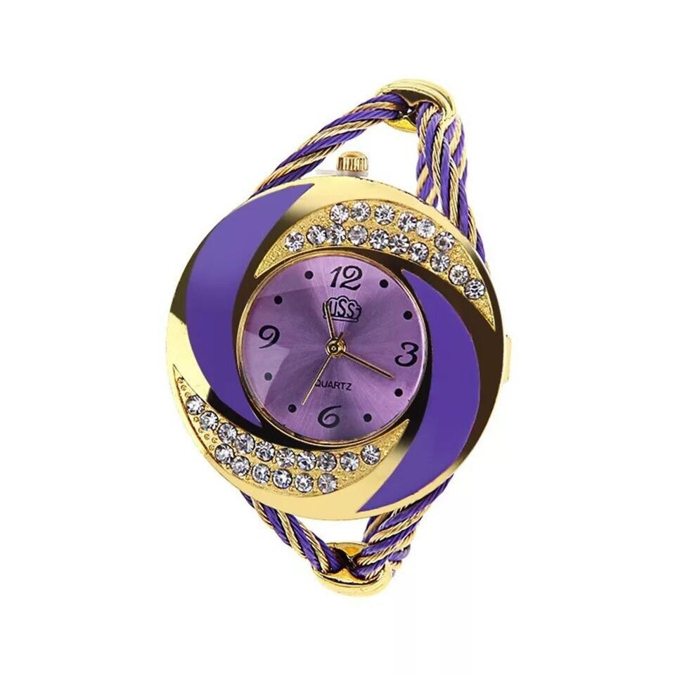 Montre Fashion pour Femme - Couleur Or-Mauve - Women's Watch Quartz Gold-Black