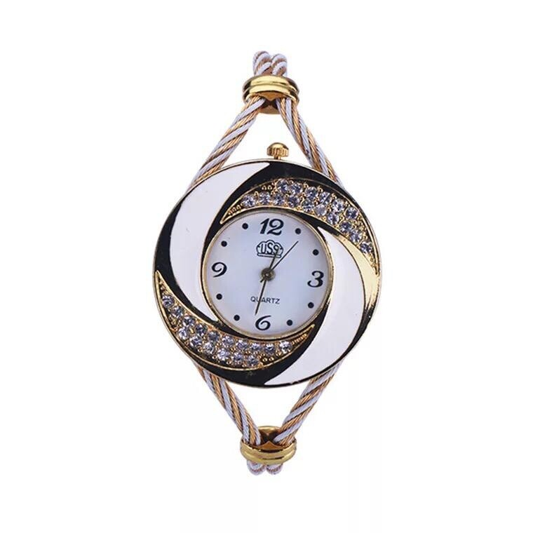 Montre Fashion pour Femme - Couleur Or-Blanc - Women's Watch Quartz Gold-Black