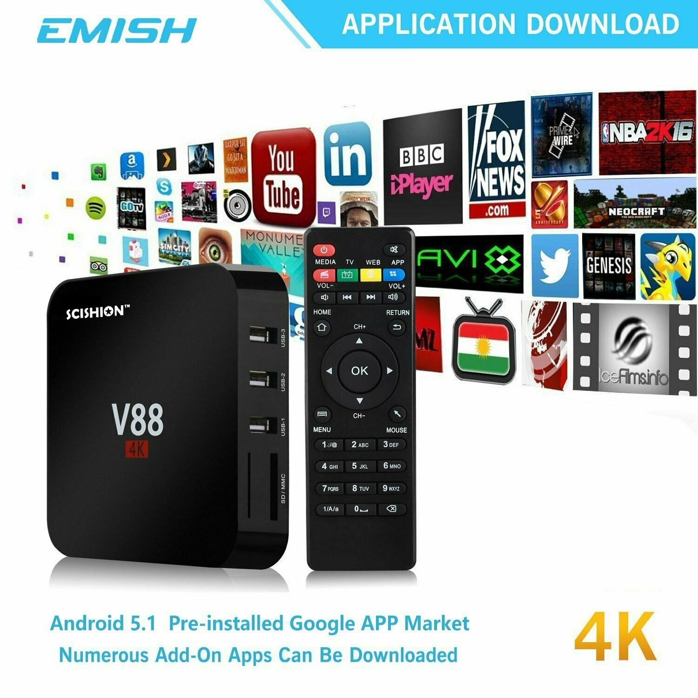 TV Box 8 GB pour TV 4K ou 1080 - All Media Players - YouTube - Netflix - Etc.