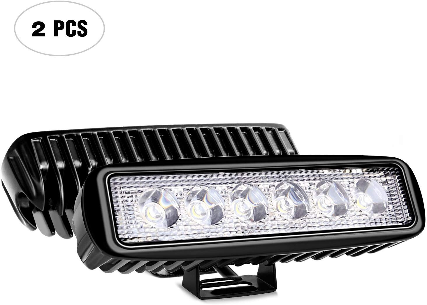 "LED Spot Light 18W Dimension 7"" x 3"" Pour Voiture (Paire) Spotlight"