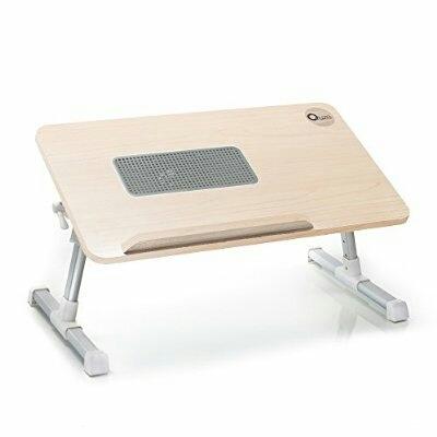 Table Flexible Pour Laptop avec Ventilateur Refroidisseur - Metez vous a l'Aise Couche ou Assis sur le Lit - Laptop Desk Notebook Computer Stand with Built in Cooling Fan Portable, Foldable Lap Desk