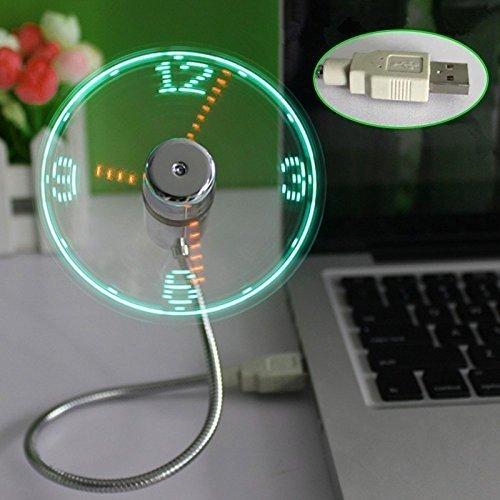USB LED Fan - Ventilateur Horloge