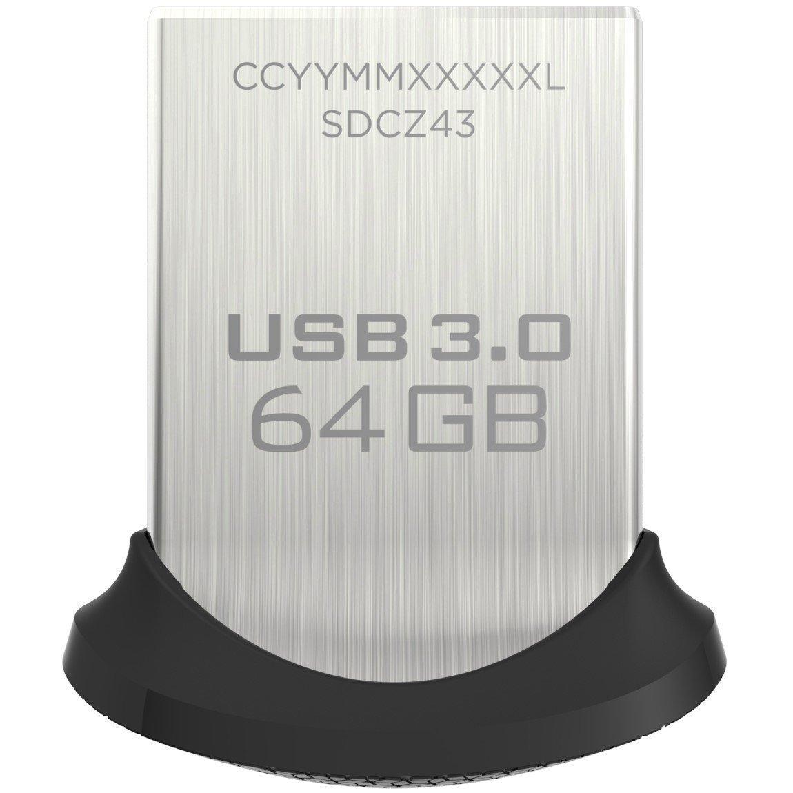 USB SanDisk Ultra Fit USB 3.0 Flash Drive 64GB 130MB/s