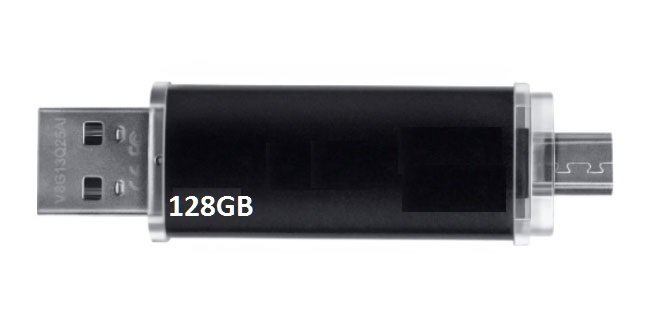 USB Double Android & PC 128GB Version 5.0