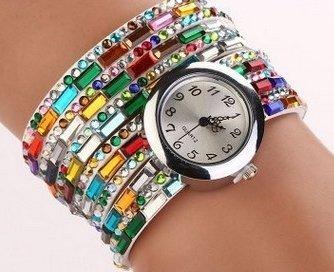 Bracelet Montre Watch Multi Color - LES COULEURS PEUVENT VARIER