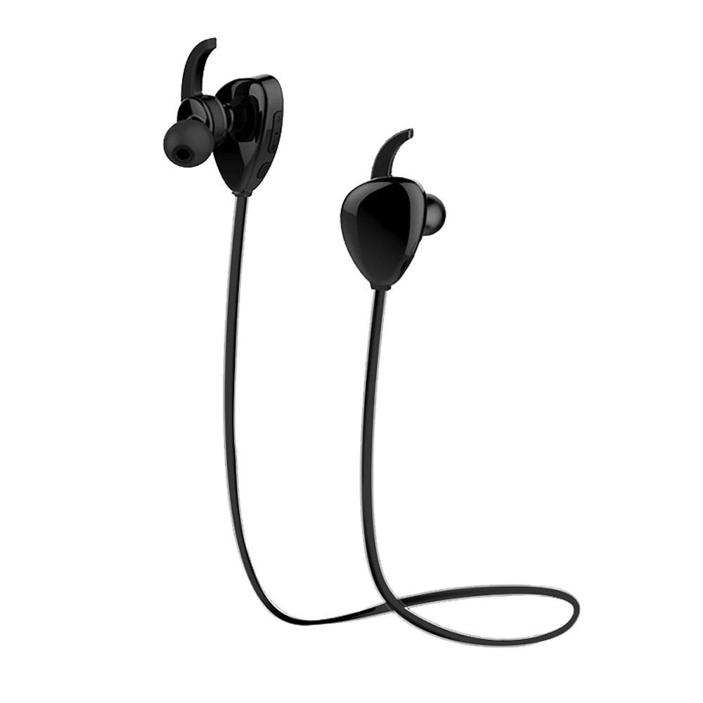Bluetooth Headphones NOIR Wireless avec Micro Earpiece - Appel Telephonique Android iPhone (Bluetooth 4.1, 6 Heures Autonomie) - LES MODELES PEUVENT VARIER