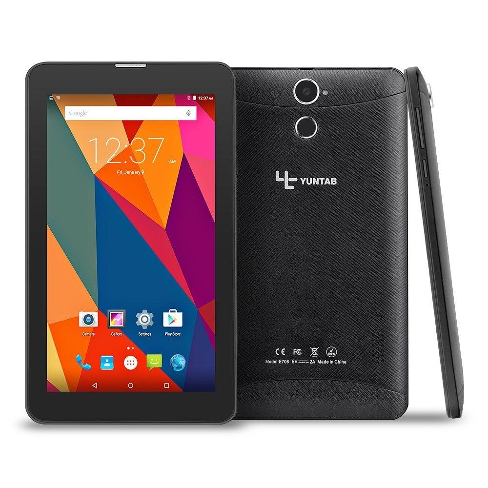 Tablet 7 Pouces NOIR Google Android 5.1 Tablet 3G Unlocked Phone Tablet PC 2G/ 3G/ Wifi 1GB+8GB Quad-Core IPS 1024x600 avec Bluetooth