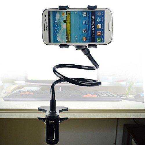 Long Bras Cell Phone Holder NOIR Universal Plastic Cell Phone Clip Holder, Lazy Bracket Flexible Long Arm