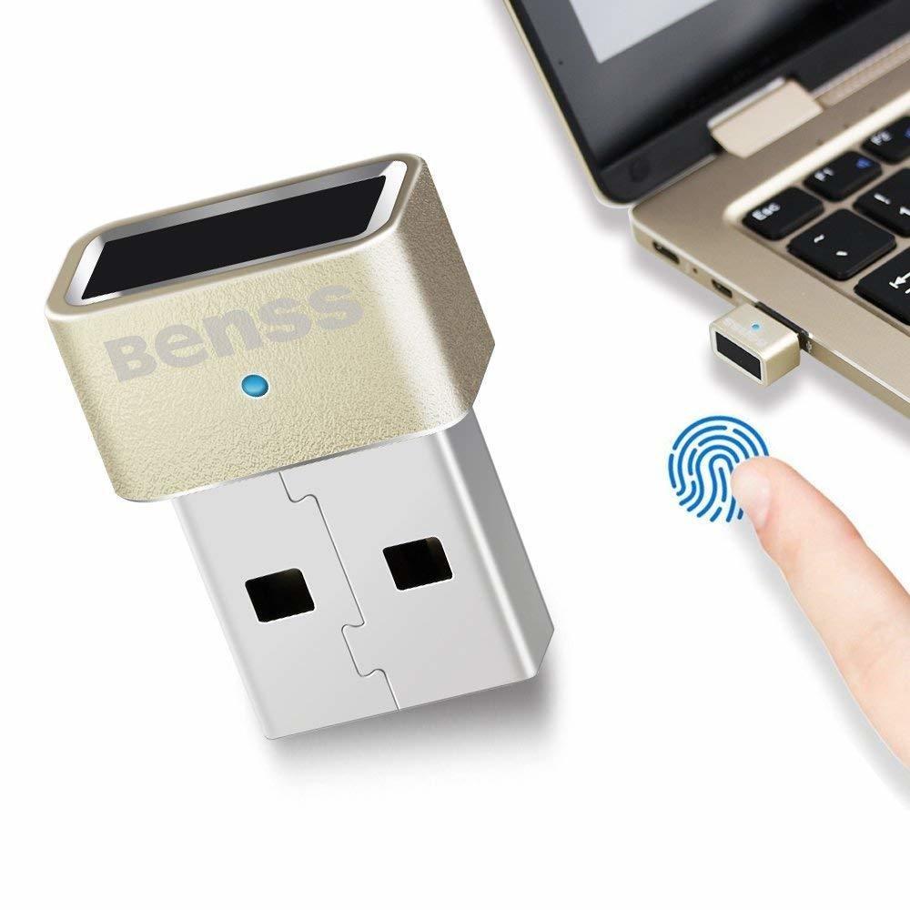 Access USB Lecteur Emprinte Digitale Windows 7, 8 & 10 Fingerprint USB Security Key Multi Finger - 360 Degree Touch Biometric Fingerprint Scanner PC Laptop Security Key .