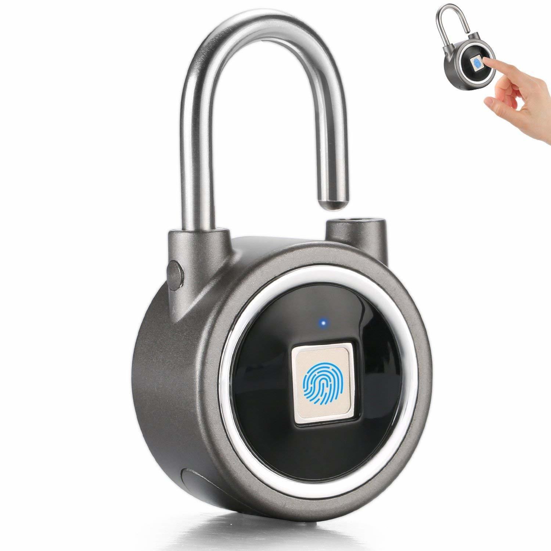 Cadena Emprinte Digitale Anti-Vol App - Fingerprint Padlock 2nd Gen Smart Bluetooth Security Lock Anti-Theft Keyless Padlock Outdoor - Gym Door Backpack Luggage Bike Office .