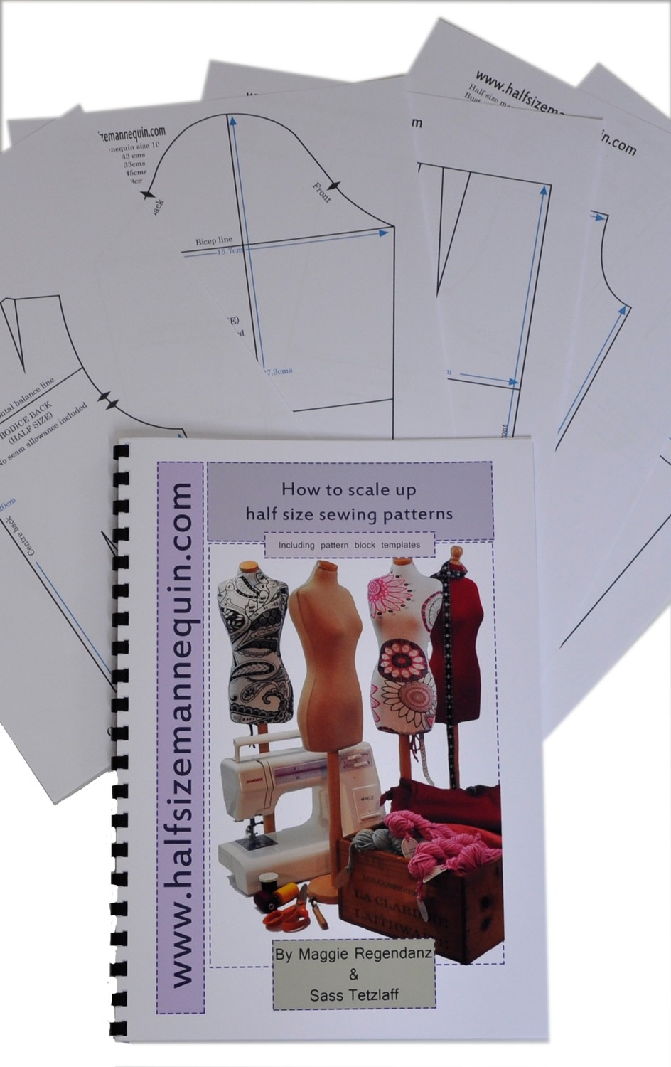 How to scale up half size patterns booklet (Including a set of half size basic blocks)
