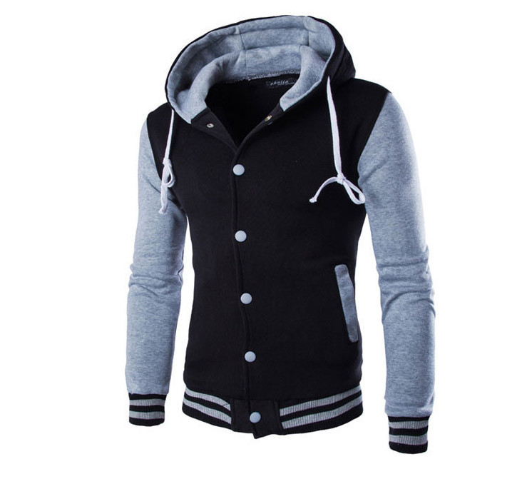 New Hooded Baseball Jacket Men 2015 Fashion