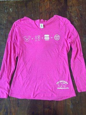 Ladies Pink, V-neck, Long sleeved, Emoji Hoodie - Large