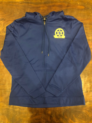 Blue TAILS hooded, zip front jacket - Large