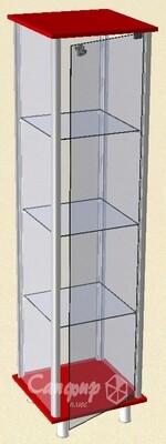 Торговая стеклянная витрина для магазина, музея, кубков 45 х 45 см.