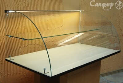 Настольная нейтральная кондитерская витрина для выпечки