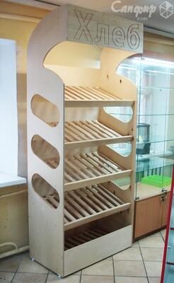 Хлебный стеллаж из дерева и фанеры