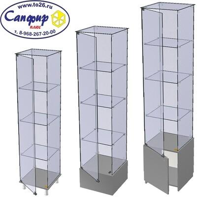 Витрина стеклянная торговая ВС 45х45 см.