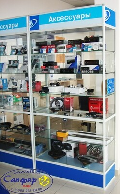 Витрина для кубков, музея, магазина, офиса 90х45 см.