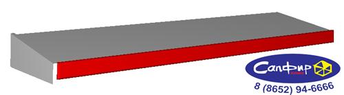 Полка с кронштейном и ценникодержателем ЮТС