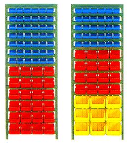односторонняя стойка - стеллаж в комплекте с ящиками С-1, С-2, С-3.