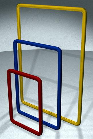 Рамка пластиковая с защитным протектором