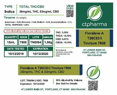 Fioraleve A T26C53 I Tincture 7808 (15 mL)(CPS)