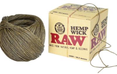 Raw Hempwick Ball