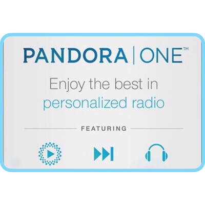 Pandora One Gift Card US $15 $30 $60 - 3, 6, 12 Months Subscription