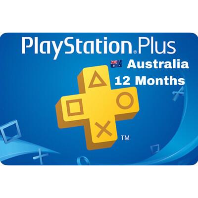 Playstation Plus (PSN Plus) Australia 12 Months