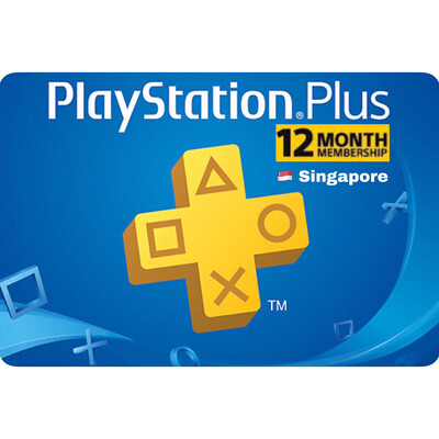 Playstation Plus (PSN Plus) Singapore 12 Months