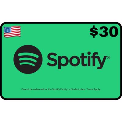 Spotify Gift Card USA $30 (3 Months Premium)