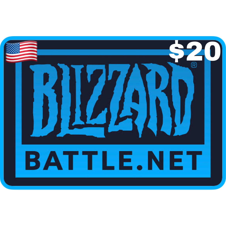 Battlenet Gift Card US $20 Blizzard Balance Code