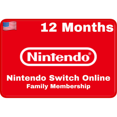 Nintendo Switch Online 12 Months USA Family Membership
