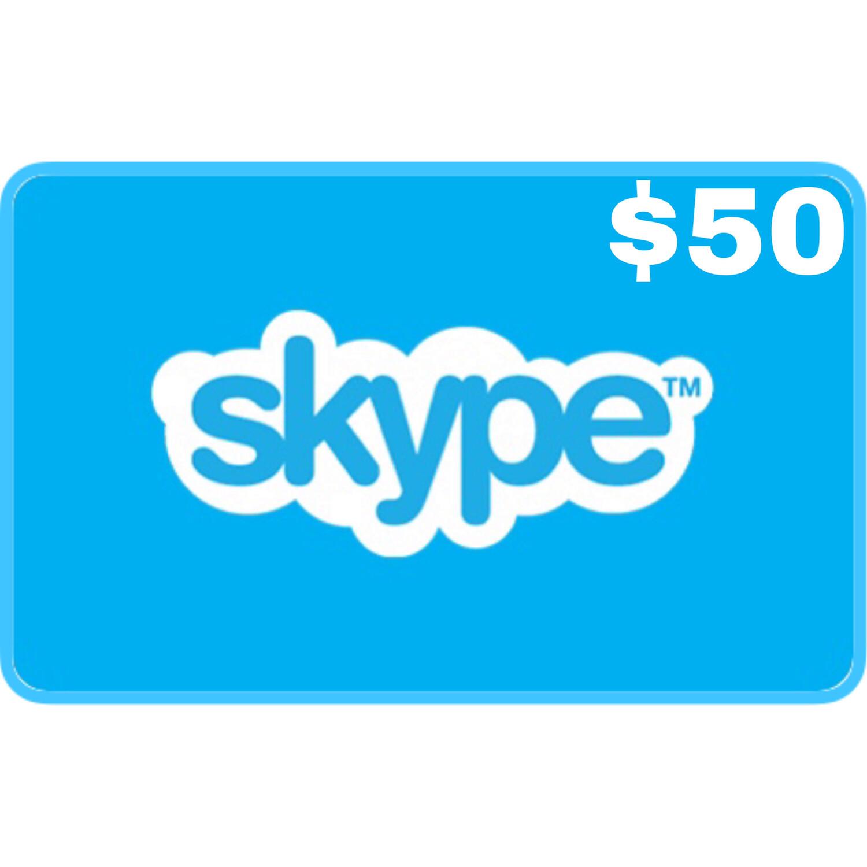 Skype Credit Gift Card $50
