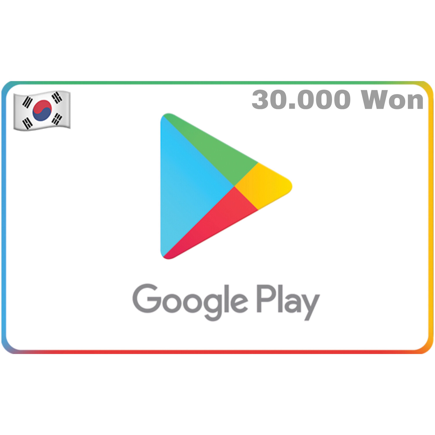 Google Play Korea 30,000 Won