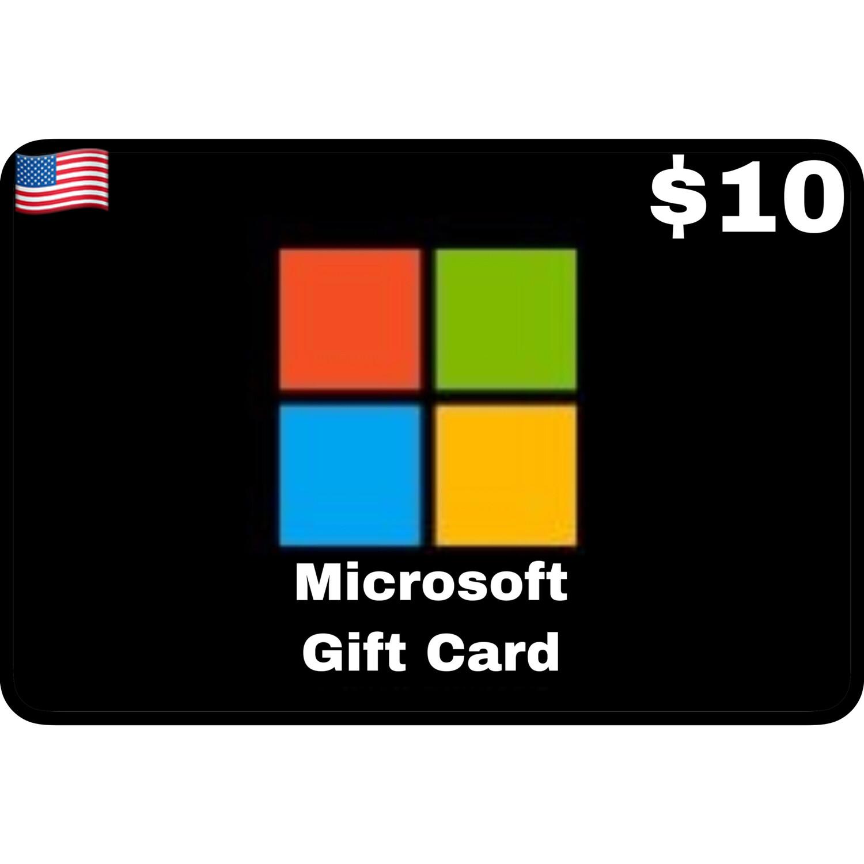 Microsoft Gift Card $10 Digital Code