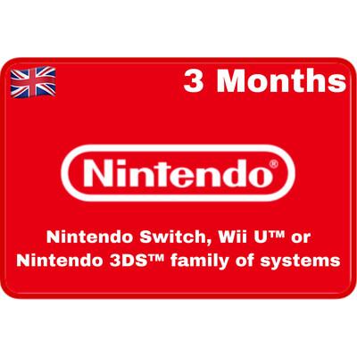 Nintendo Switch Online 3 Months UK Individual Membership