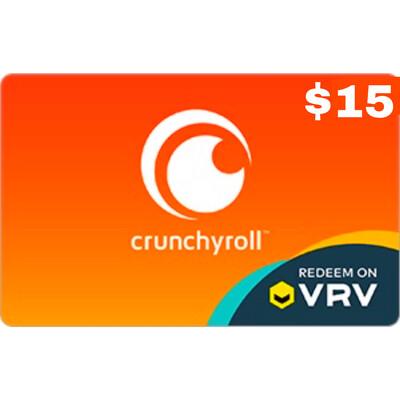 VRV $15 Crunchyroll Gift Card