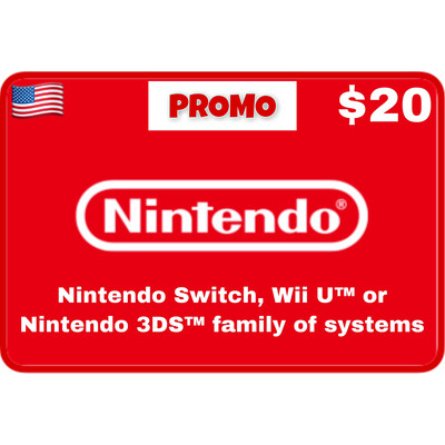 Promo Nintendo eShop USA $20 (Web Order Only)