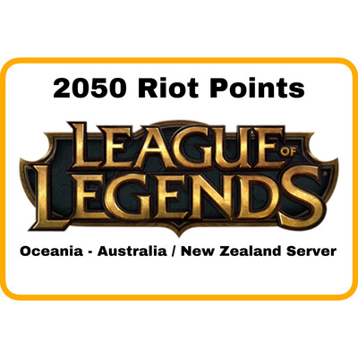 League of Legends Oceania Server (Australia/New Zealand) 2050 Riot Points