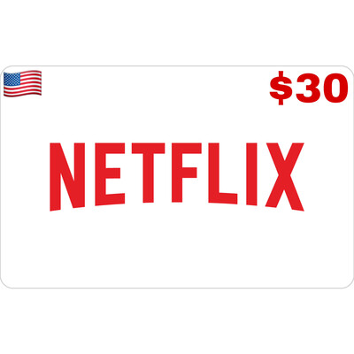Netflix Gift Card US $30