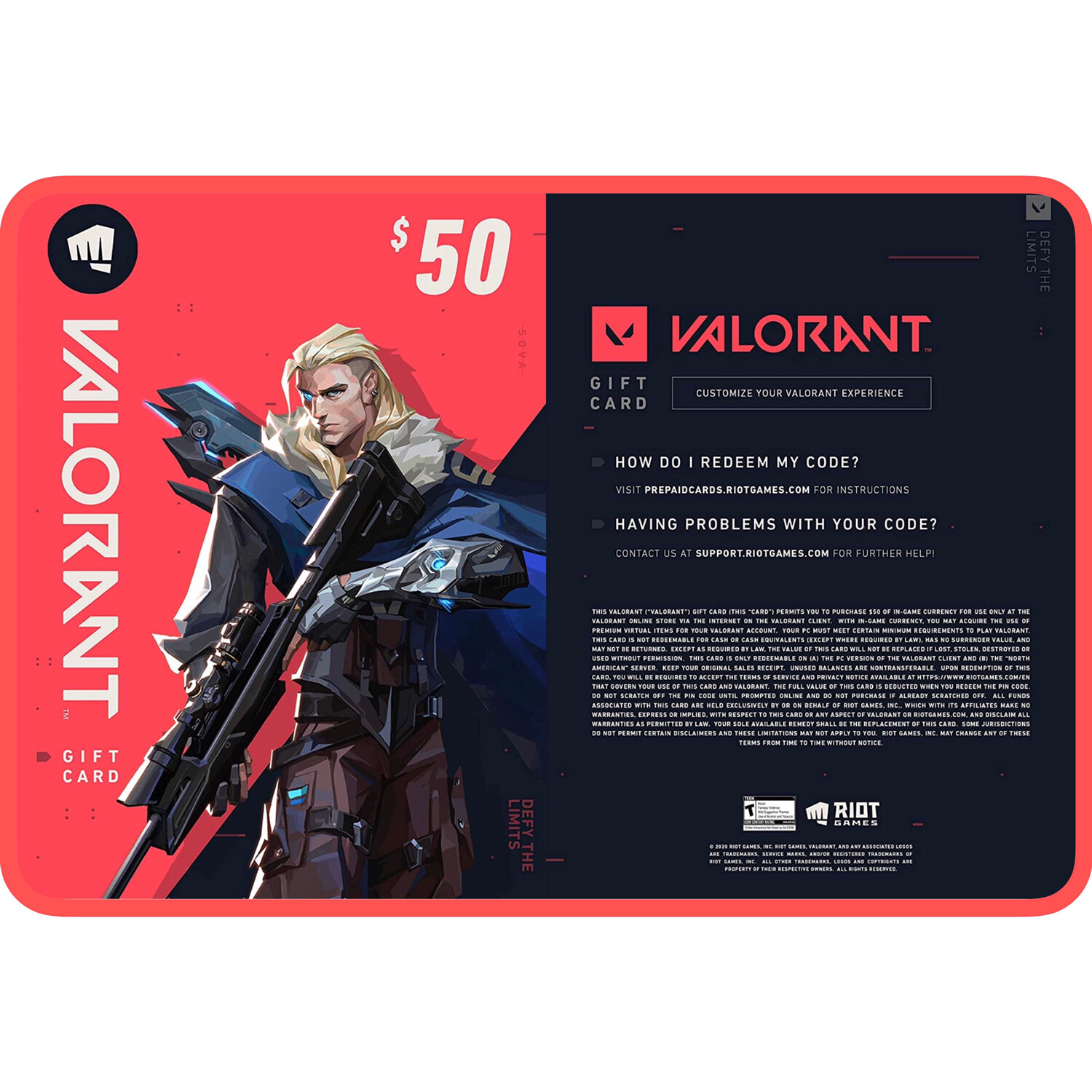 Valorant Gift Card US $50