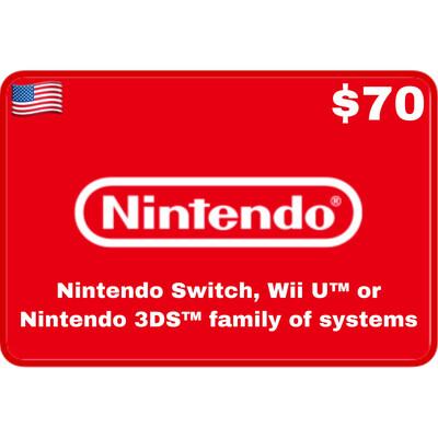 Nintendo eShop USA $70