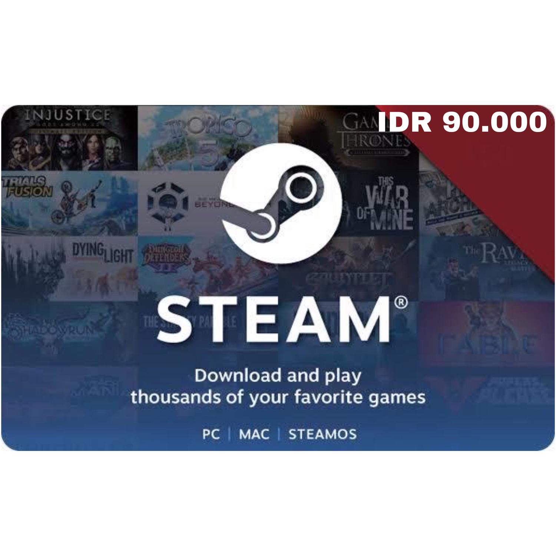Steam Wallet IDR 90000 Indonesia