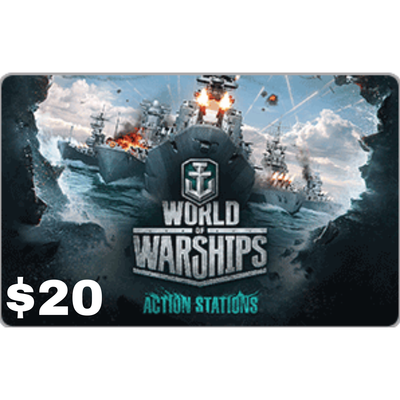 Wargaming World of Warships $20 Gift Card [Digital Code]