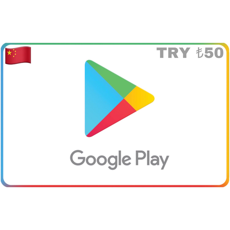 Google Play Turkey TRY ₺50